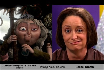 Gothi The Elder (How To Train Your Dragon) Totally Looks Like Rachel Dratch
