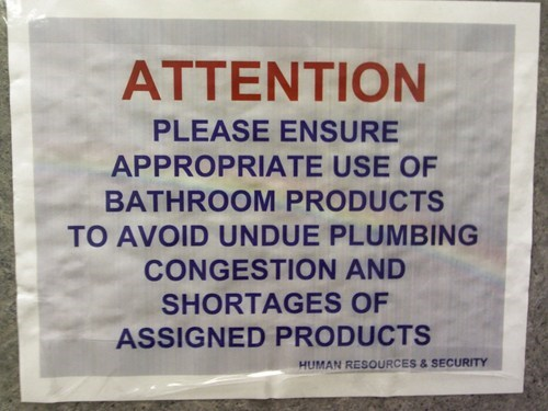 bathroom,clogged toilet,human resources,restroom,toilet,toilet paper