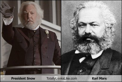 President Snow (Donald Sutherland) Totally Looks Like Karl Marx