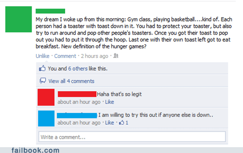Failbook: The Breakfast Games