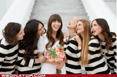 bridesmaids,dresses,funny wedding photos,jail,prison,stripes,wedding