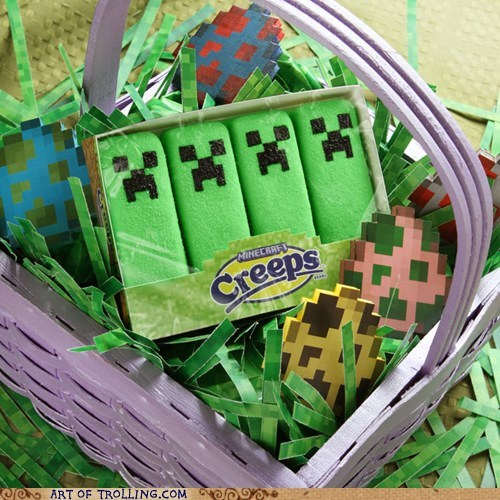 easter,minecraft,peeps,shoppers beware