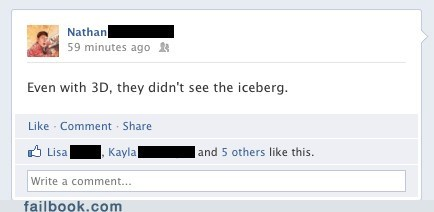 Failbook: Spoiler Alert: It Still Sinks