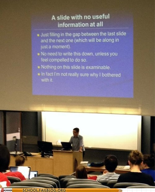 powerpoint,taking notes,useless slide