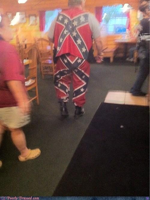 confederate flag,MERIKA,pants,the south