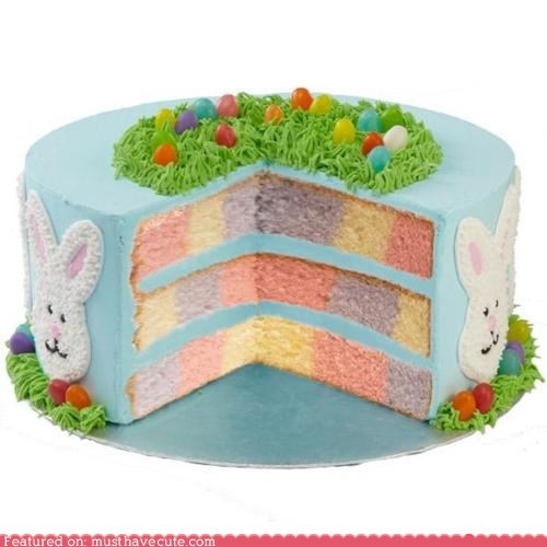 best of the week,bunnies,cake,checkerboard,eggs,epicute,frosting,grass,pastels