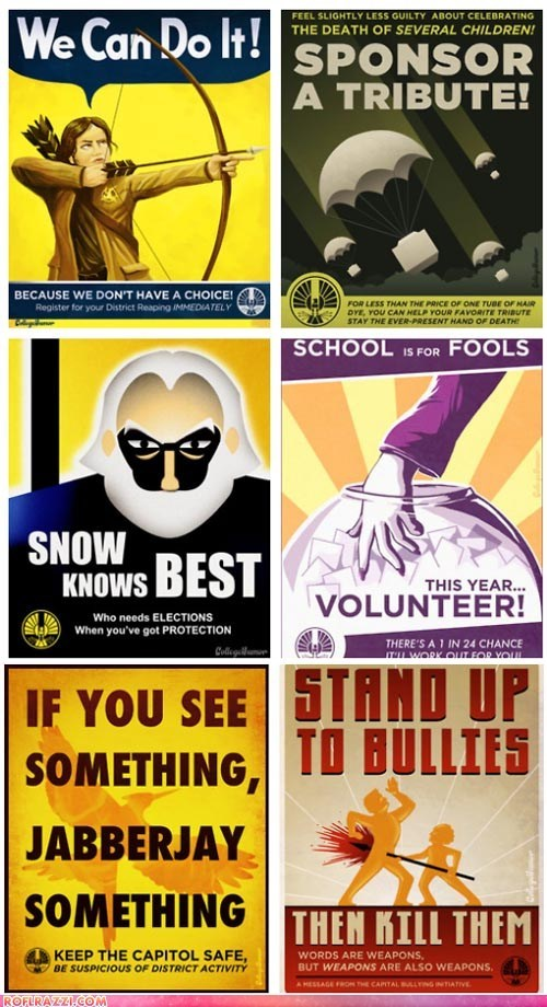 """The Hunger Games"" Propaganda PSAs"