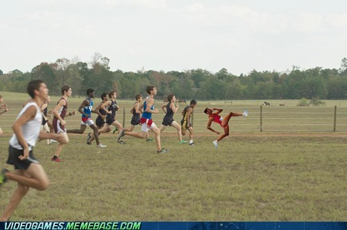 QWOP Tries Out Cross Country