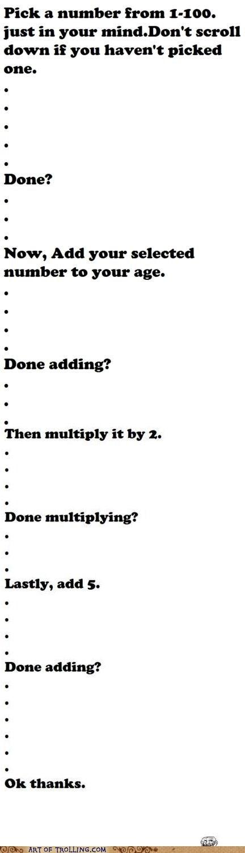 add,Memes,mind trick,numbers