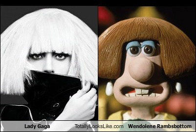 TLL: Lady Gaga Totally Looks Like Wendolene Rambsbottom