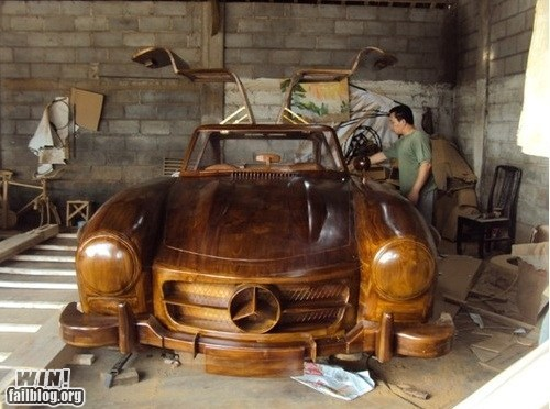 Wooden Mercedes WIN