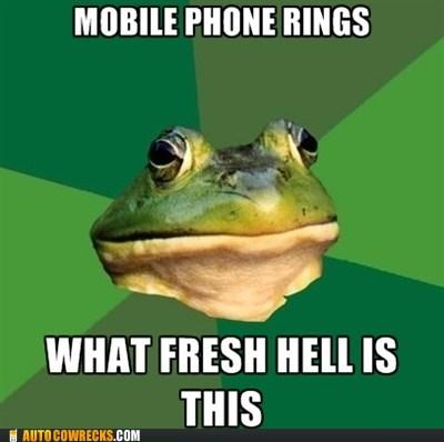 frog meme,phone calls,phone rings,what fresh hell is this