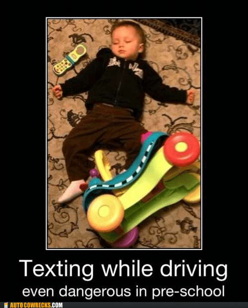 Autocowrecks: Never Too Young to Not Text While Driving