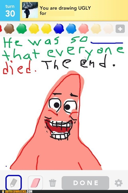 Patrick Takes Offense At Your Draw Something