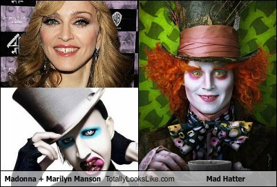 Madonna + Marilyn Manson Totally Looks Like Mad Hatter (Johnny Depp)