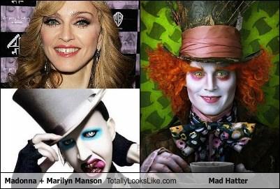 celeb,funny,Johnny Depp,mad hatter,Madonna,marilyn manson,TLL