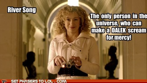 alex kingston,dalek,doctor who,mercy,River Song,scream,universe