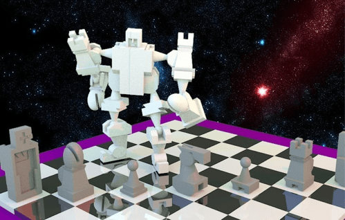 Giant Mecha Chess Set of the Day
