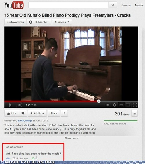 blind,comment,deaf,piano,youtube,youtube comment