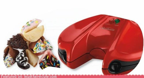 appliance,fortune cookies,machine,sweets