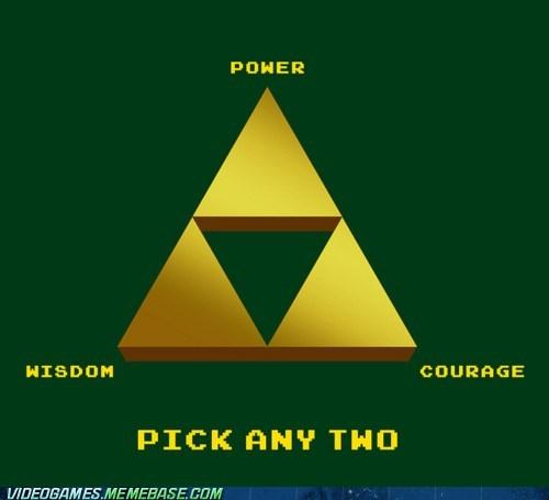 courage,pick two,power,triforce,wisdom,zelda
