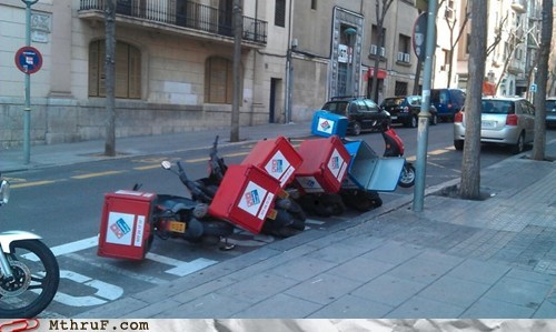 bicycle,domino effect,dominos-pizza