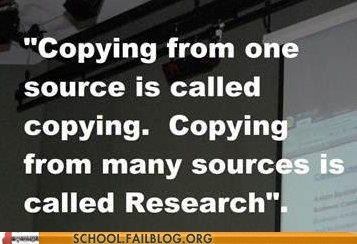 copying,research,wikipedia