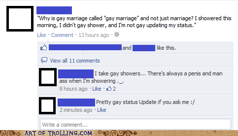 Trolling is Asexual