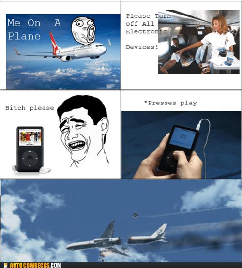 airplane,comic,flying,ipod,rage comic