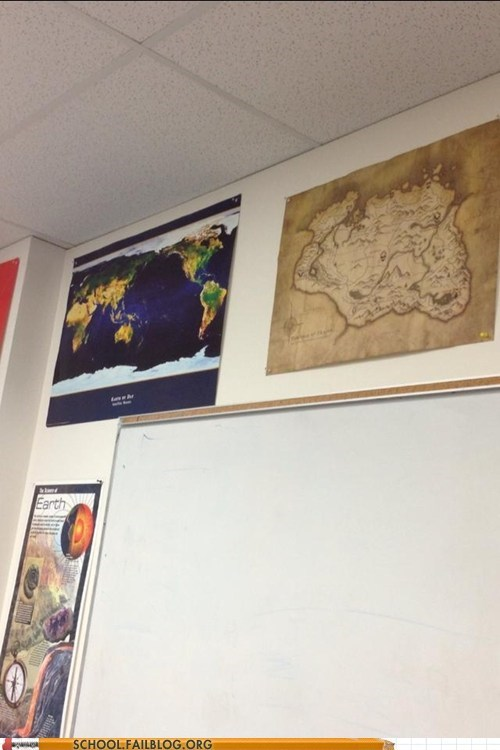 Geography 101: That Map Looks Like What I Do Instead of Homework