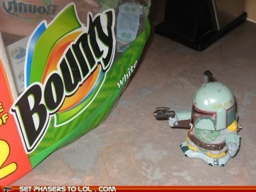 best of the week,boba fett,bounty hunter,confused,first day,paper towels,star wars,toy