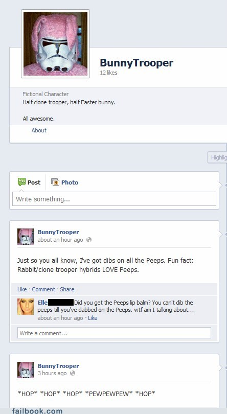 Failbook: Bunny Trooper Will Make Your Easter Better