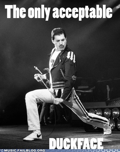 duckface,freddie mercury,g rated,Hall of Fame,Music FAILS,queen