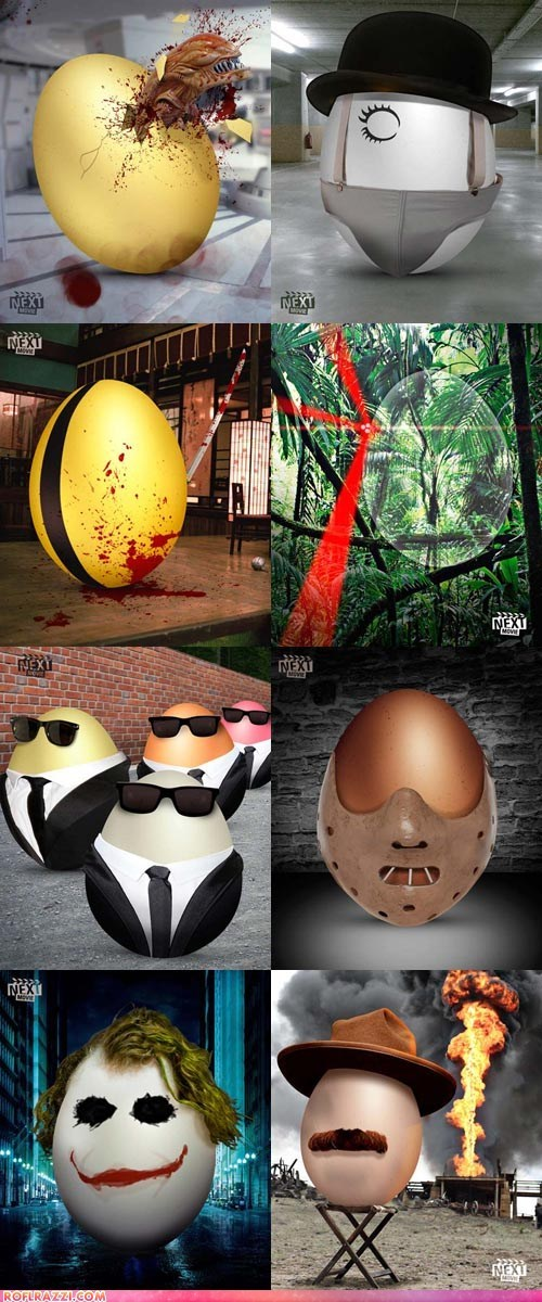 Famous Movies as Easter Eggs
