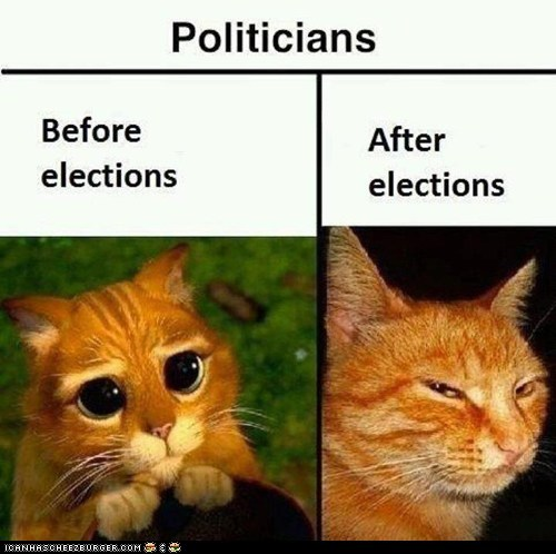 Politicians Before and After Elections