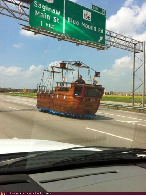 car,sailboat,wtf