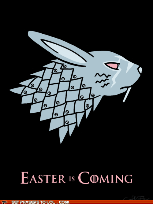 a song of ice and fire,best of the week,bunnies,direwolves,easter,Game of Thrones,stark,Winter Is Coming