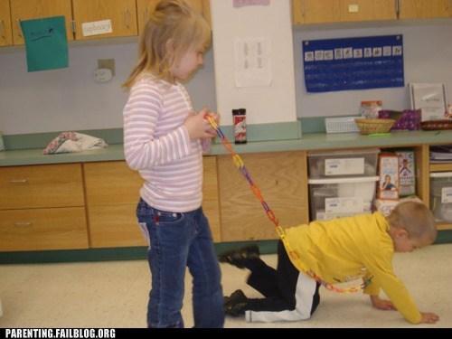 kids,leash,school,wtf