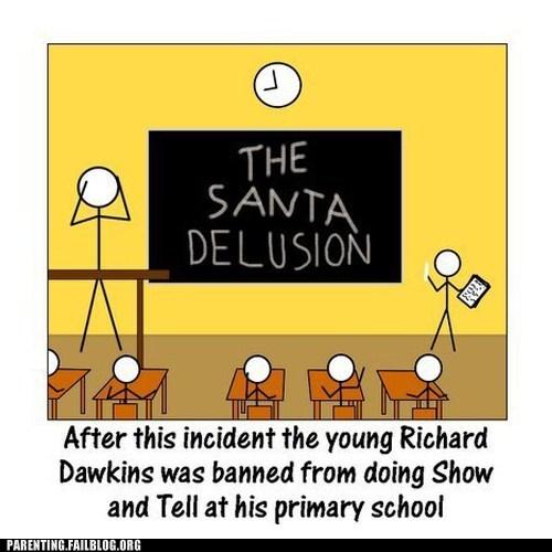 classroom,richard dawkins,santa,school,show and tell