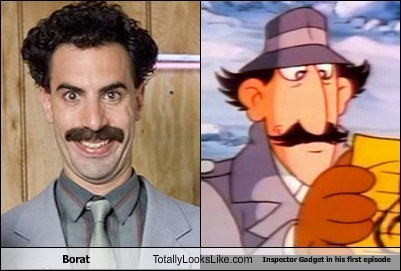 Borat (Sacha Baron Cohen) Totally Looks Like Inspector Gadget in His First Episode