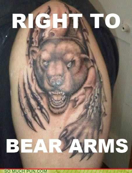 arms,bear,double meaning,literalism,right,second amendment
