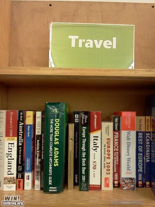book store,Douglas Adams,hitchikers-guide,nerdgasm
