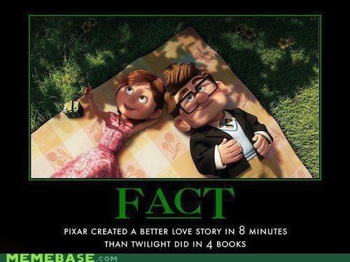 books,fact,love story,movies,pixar,twilight,up,very demotivational