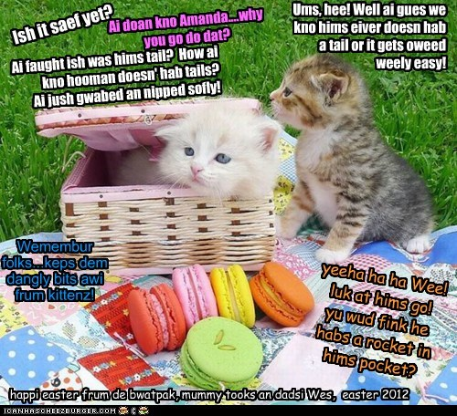 Happi Yeaster one an all, frum de majik itteh bitteh kittehs