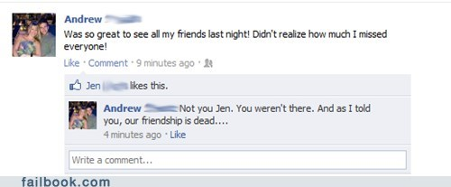 friends,uninvited,whoops