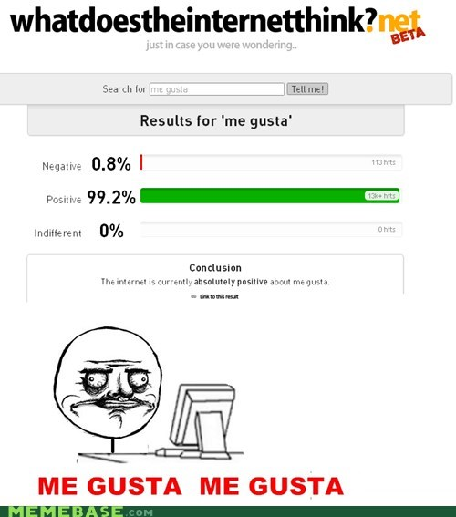 me gusta,postive,what does the internet think