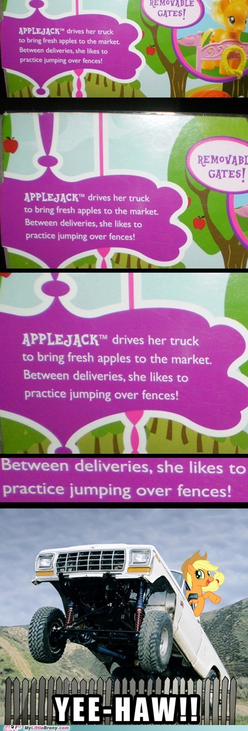 Applejack is Best Truck Driver