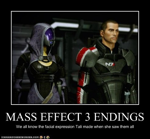 MASS EFFECT 3 ENDINGS