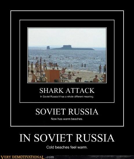 beaches,hilarious,russia,shark,soviet,submarine