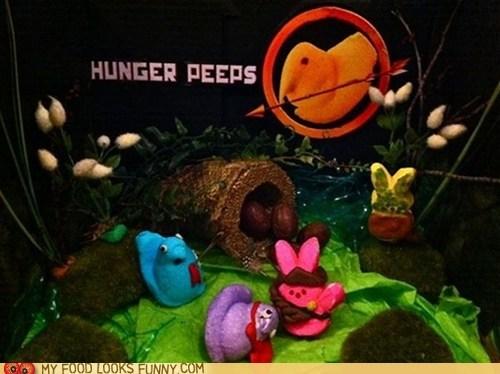 diorama,hunger games,peeps,tabeau